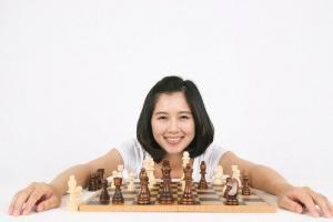 Girl and chess